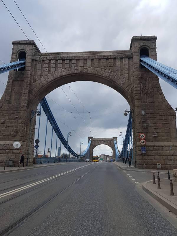 most grunwaldzki niebieski most wroclaw wiszacy most nitowany most