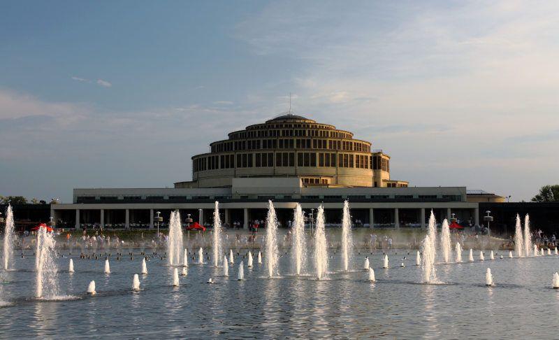 wroclaw hala ludowa fontanna